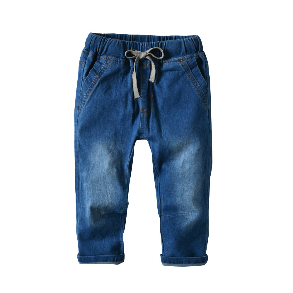 2018New Design Boy's Pants High Quality Children's Solid Comfortable Paddy Jeans Cotton100% Solid Leisure Pant Kid Clothes