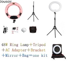 Yidoblo White FS-480II 5500K Dimmable Camera Photo/Video 18″ 48W 480 LED Ring Light LED Lamp+ 2M tripod+Soft bag Kit CD50Y