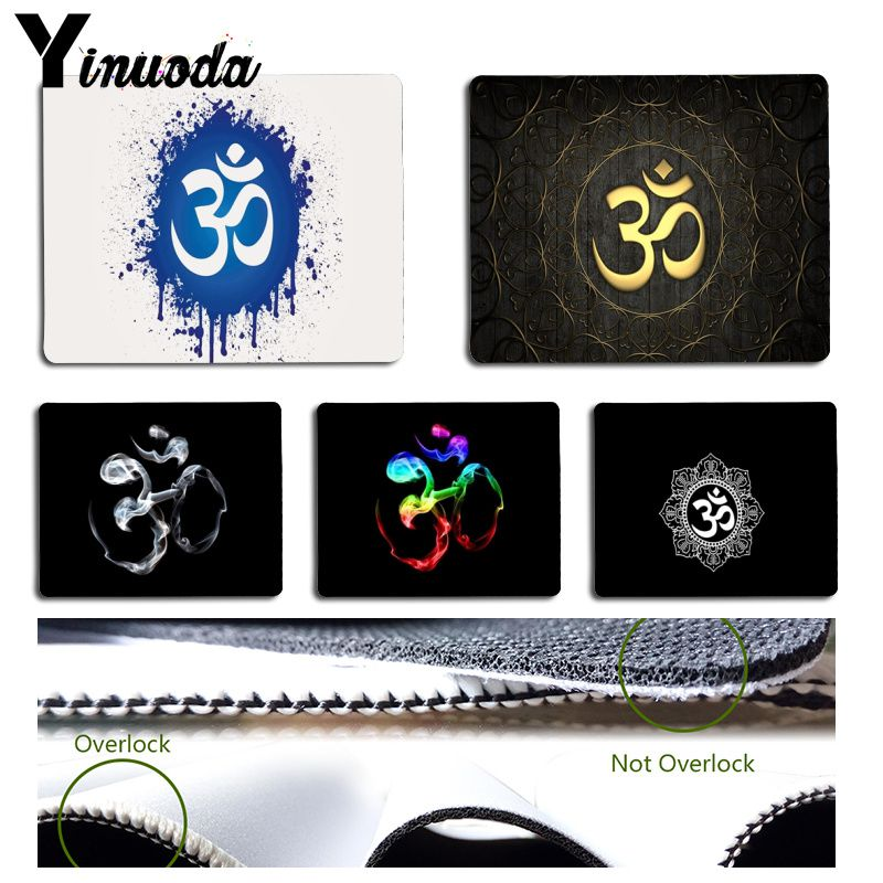Yinuoda Cool New Aum Om Yoga Durable Rubber Mouse Mat Pad Size for 18x22cm 25x29cm Rubber Mousemats