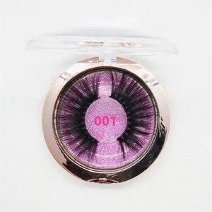 Image 2 - Darmowe własne logo 50 Pairs 25mm rzęsy 3D rzęsy z norek ręcznie dramatyczne rzęsy okrucieństwo bezpłatna sprzedaż hurtowa darmowe dhl wysyłka