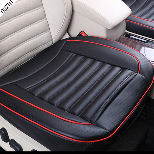 OUZHI waterproof pu Leather single car mats seat breathe freely pad car seat covers for universal car