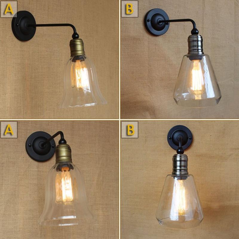 Vintage American Rural Mediterranean Glass Livingroom Wall Lamp Creative Coffee Shop Decoration Lamp Bedroom Light Free Shipping цена 2017