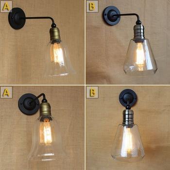 Vintage American Rural Mediterranean Glass Livingroom Wall Lamp Creative Coffee Shop Decoration Lamp Bedroom Light Free Shipping