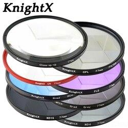 Фильтр для объектива KnightX ND ND2 ND4 ND8 ND16 UV 49 52 55 58 62 67 72 77, Цветной фильтр для камеры Canon EOS 1100D 700D 650D 600D 18-55 мм hoya