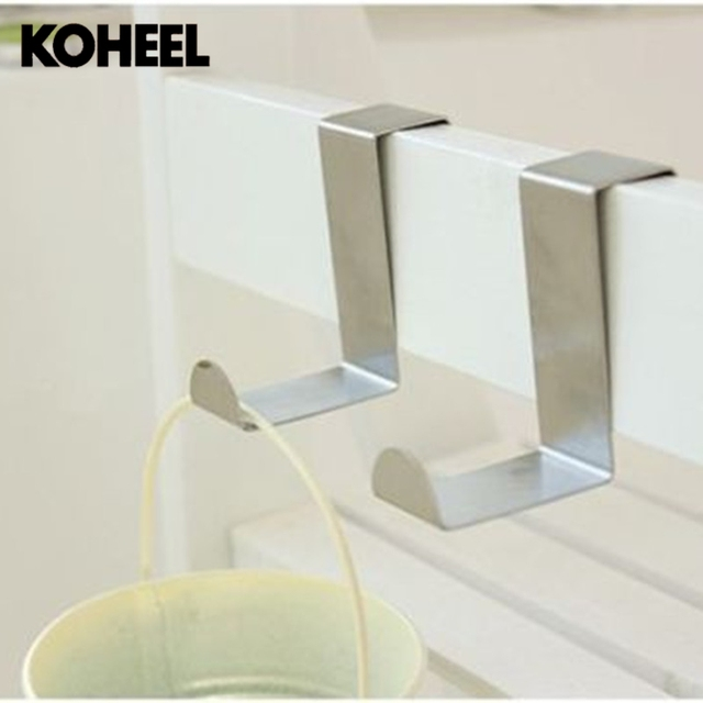 Door Hook Nail Free Back Hanging Bag Rack For Kitchen Color Stainless Steel Small