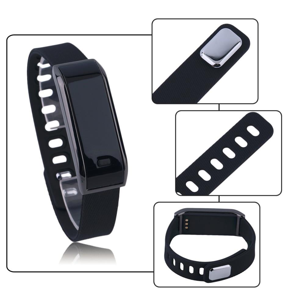 Bluetooth Bracelet Sleep Fitness Activity Tracker Call Reminder Smart Band