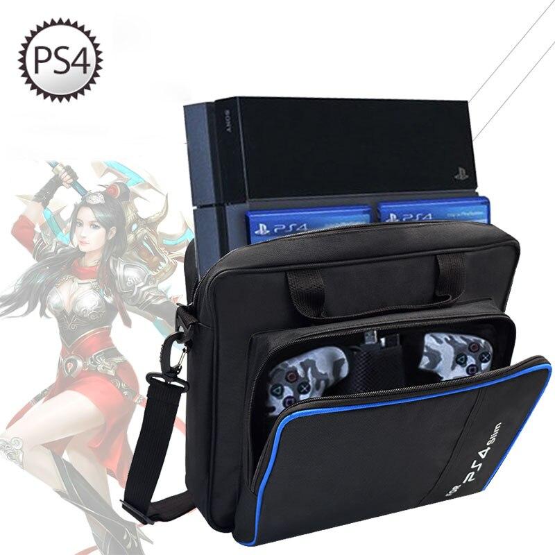 Para PS4/PS4 Pro Slim juego Sistema de tamaño Original para la consola PlayStation 4 proteger hombro bolsa bolso estuche de lona