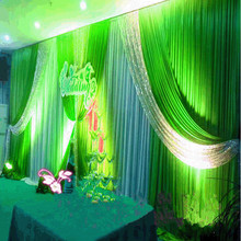 3X6M 20ft (w) x 10ft (h) Wedding Backdrop Swags Silver Sequins Drape Party Backdround Curtain Wedding Decoration Free DHL