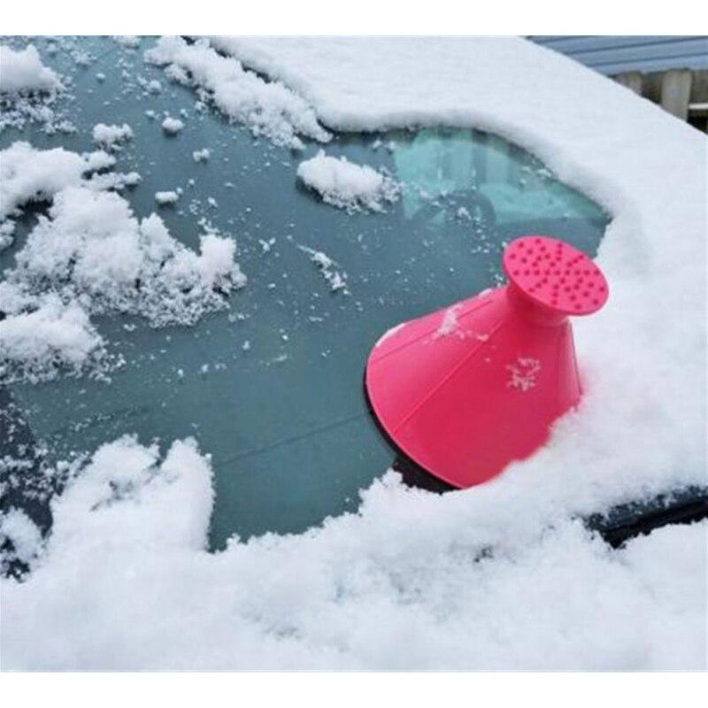 1 stück Magie Kratzen EIN Runde Eis Schaber Auto Windschutzscheibe Schnee Scraper Nützliche Auto Windschutzscheibe Schnee Entfernung Schaber Eis Schaufel