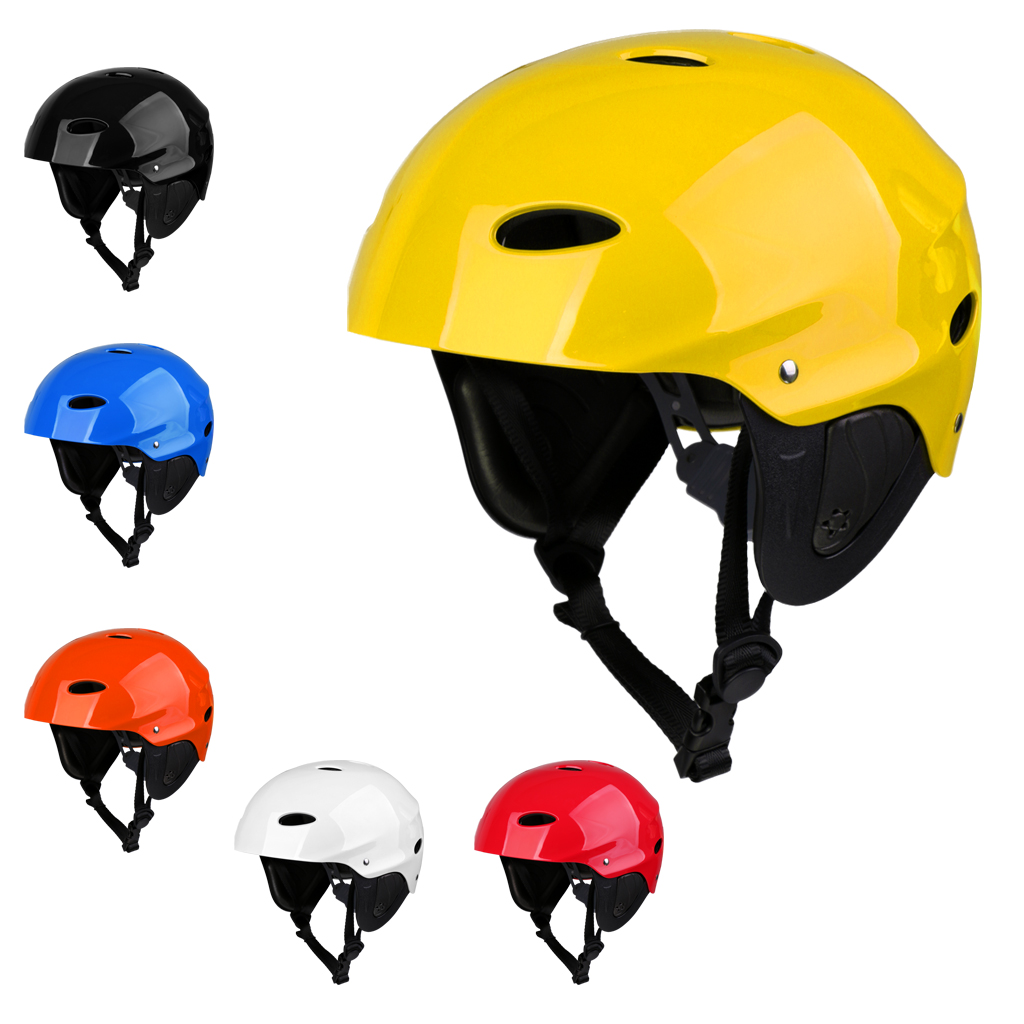 Premium ABS Safety Helmet & Air Vent Ear Protectors For Water Sports Wakeboard Kayak Surfing Safety Helmet