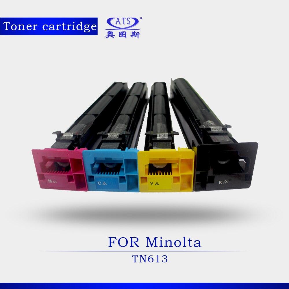 1PCS BK690G CMY460G Photocopy Machine Toner Cartridge For Minolta TN 613 Bizhub BHC 452 552 652 Copier Parts C452 C552  cs km1400 toner laser cartridge for minolta 1400w 1400 9j04202 bk 2 000 pages free shipping by fedex