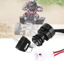 Универсальный 2 ключа зажигания пусковой переключатель ключ для дверного замка аксессуары для мотоциклов Yamaha YFM 350 broin 660R 700R Raptor r