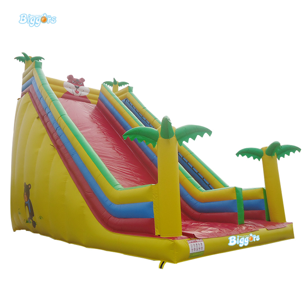 Jungle Commercial Inflatable Exciting Slide Slider for Children 6 4 4m bounce house combo pool and slide used commercial bounce houses for sale