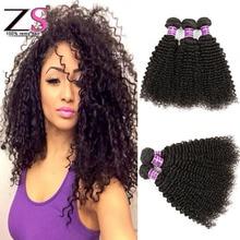 7a Unprocessed Brazilian Kinky Curly Virgin Hair ZSF Hair Company Afro Kinky Curly Hair Brazilian Hair Weave Bundles