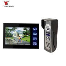 On sale Yobang Security 7 inch video intercom Waterproof Night vision IR Camera video doorBell phone Security System 4 pin Cable