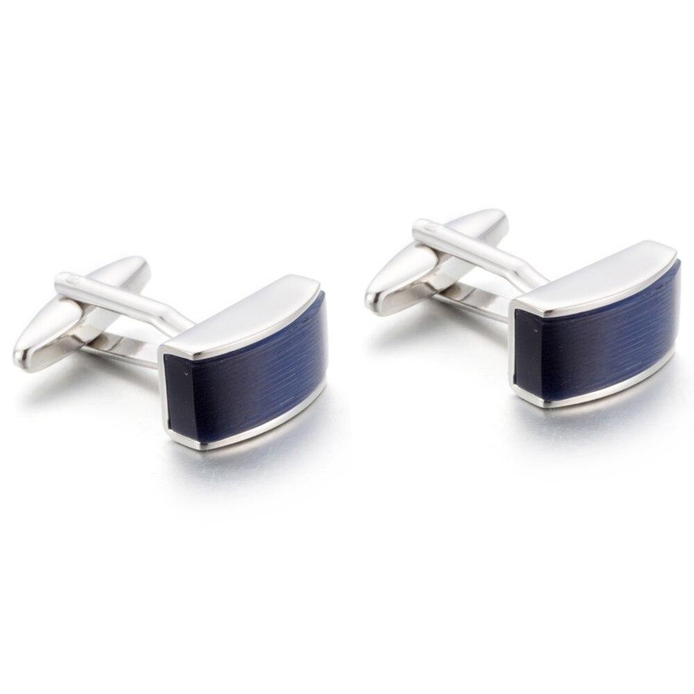 VAGULA Blue Catseye Cuff Links Quality French Cufflinks Gift Links Gemelos Men Jewelry  761