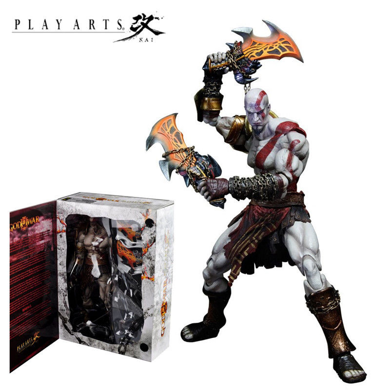PLAY ARTS KAI GOD OF WAR 3 KRATOS GHOST OF SPARTA STATUE ACTION FIGURES KIDS TOY Anime Figure Collectible Model Toy 22cm neca games god of war action figure ghost sparta kratos pvc figures ultimate edition cartoon toys collectible model toys