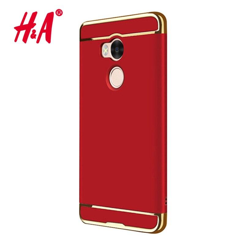 H & a 3 en 1 cajas del teléfono para xiaomi redmi 4 chapado pro cubierta a prueb