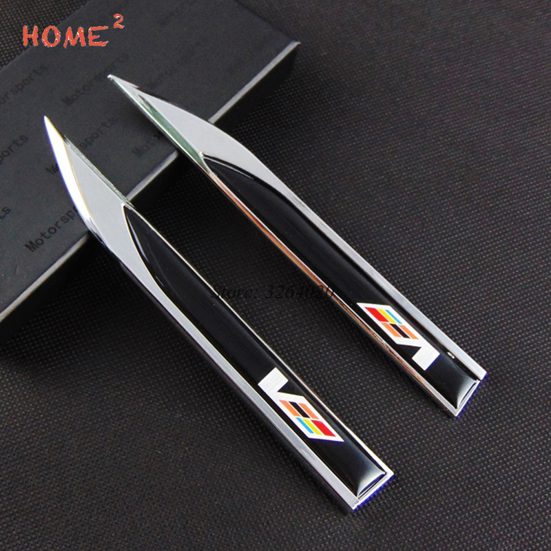 Car Styling Side Stickers Door Badge Decals Decor Accessories for Cadillac Logo SRX ATS XT5 CTS BLS SLS XLR-V Escalade Deville