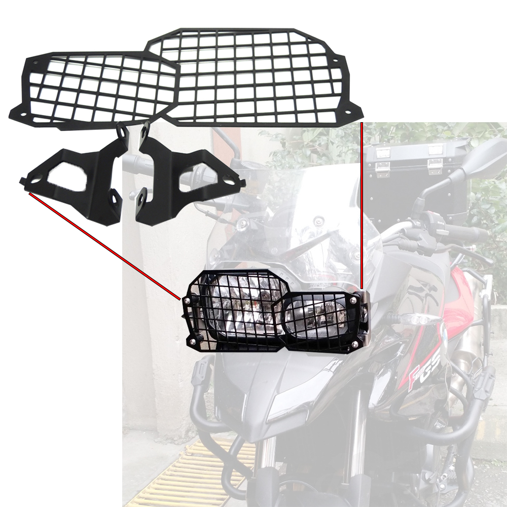 KEMiMOTO For BMW F800GS Quick Release Stainless Steel Headlight Guard F800 GS For BMW F700GS F650GS Twin 2008-on motorcycle motorbikes wind deflectors windshield windscreen for 2008 2017 bmw f800gs f650gs f800 f650 gs 800gs 650gs smoke