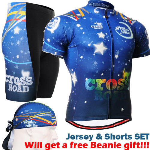 ФОТО 2016 man cycling jersey and shorts sets ocean blue Brand Pro Men Cycling Jersey Set Bicycle Clothes Cycling Jerseys Short Sleeve