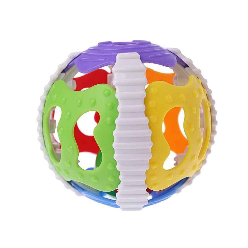 Dla dzieci ręcznie dzwon zabawki grzechotki kołysać zrozumienie dźwięku jasne kolory piłka palec aktywności zabawki edukacyjne