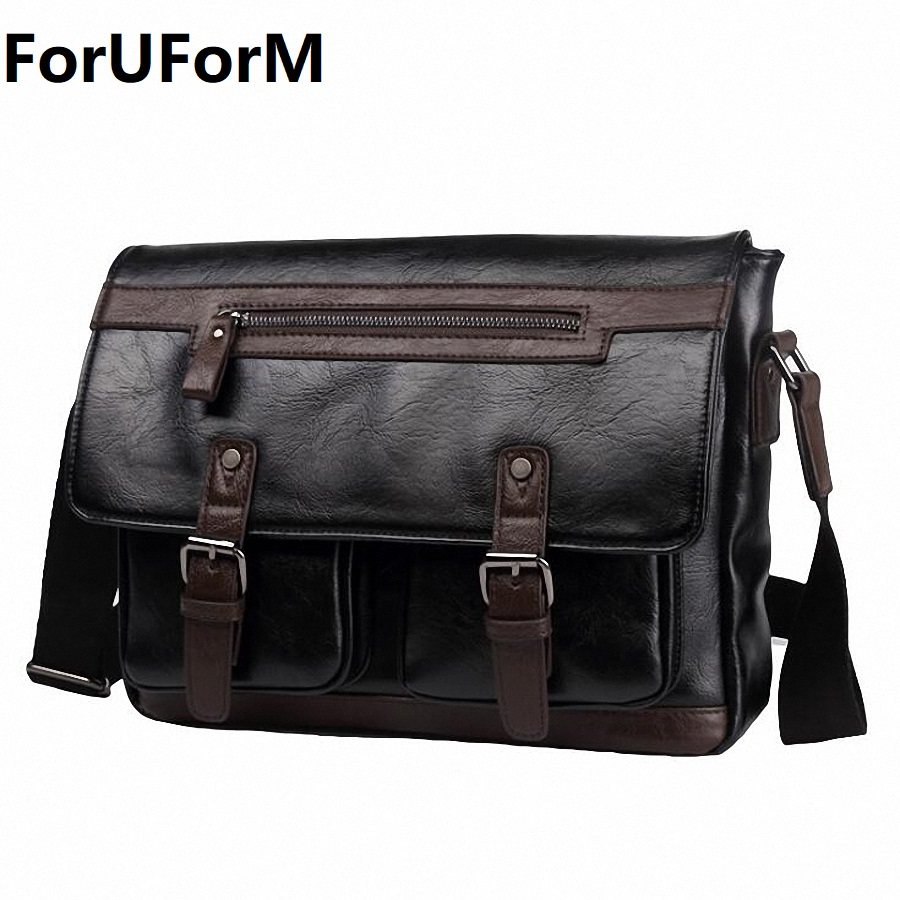 PU Leather Men Shoulder Bag Casual Male Travel Bags Satchel Mens Messenger Bag Vintage Men's Crossbody Bag bolsas male LI-2003 polo men shoulder bags famous brand casual business pu leather mens messenger bag vintage men s crossbody bag bolsa male handbag