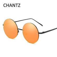 Ретро Круглые поляризованные солнцезащитные очки Для мужчин Для женщин Металлические очки, подходят для вождения, солнцезащитные очки Винтаж небольшой очки в стиле хиппи UV400 Gafas De Sol 6030