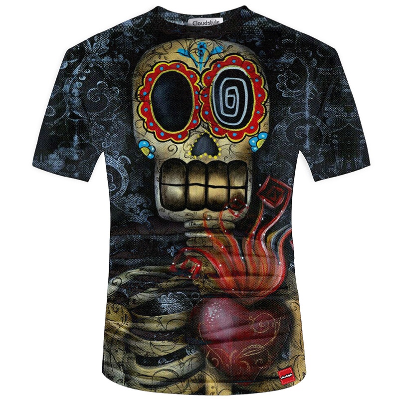 HTB1le9sSFXXXXX5apXXq6xXFXXXw - Men's New Fashion 2018 - Quality 3D Skull Print Design Stylish Casual T-Shirt