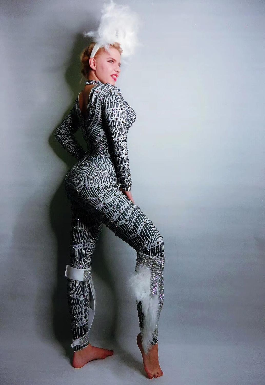 Комбинезон с принтом, большие тянущиеся леггинсы, сексуальное боди, мужской джазовый костюм, цельный обтягивающий комбинезон, нижнее белье,... - 5