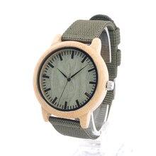 Top Brand Design D11 Luxulry Relojes De Madera De Bambú Con la Banda De Nylon japonés de Cuarzo 2035 Relojes para Hombres de Las Mujeres De Bambú en Caja de Regalo