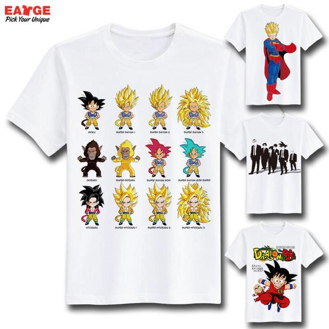 Dragon Ball Z Goku Super Saiyan Anime Casual Men's T-shirt