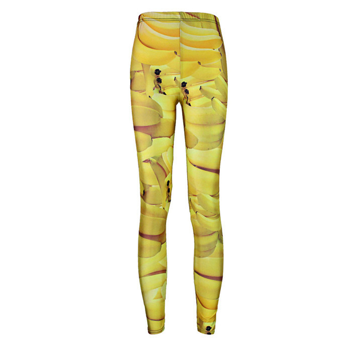 schön Design Werksverkauf schönes Design US $9.99 |Mode Frauen Bananen Print Leggings Slim Fit Dünne Elastische  Polyester Cos Party Hosen Casual Hosen Drop Shipping-in Leggings aus ...