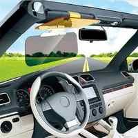 Car Sunshade Day Night Sun Visor mirror Anti-dazzle Clip-on Driving Vehicle Shield Clips on to most sun visors