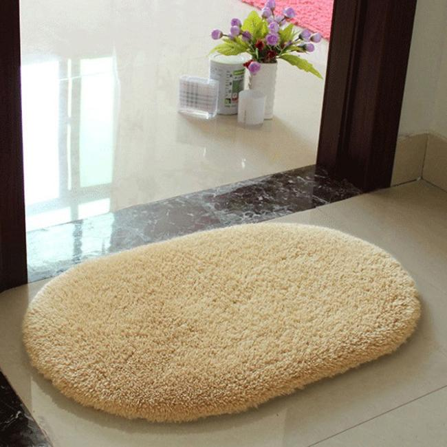 Hot Gy Bathroom Rug Candy Color Plush Velvet Slip Mats Doormat Absorbent Washable Bath Floor Carpet W1 In From Home