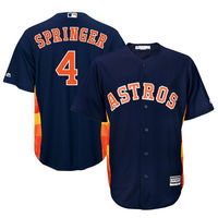 MLB Mens Houston Astros George Springer Baseball Navy Official Cool Base Player Jersey