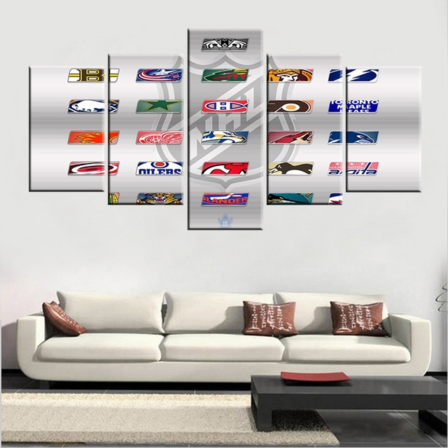 sports icon printed wall art modular posters on cuadros decoration