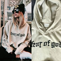 Justin Bieber FEAR OF GOD Purpose Tour Men Woman Hoodies 2016 Spring New Long Sleeve Man Lovers Hooded Sweatshirt S-3XL
