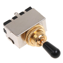 Homeland Chrome 3 Way Toggle Switch For Electric Guitar With Black Tip For Electric Guitar Accessories