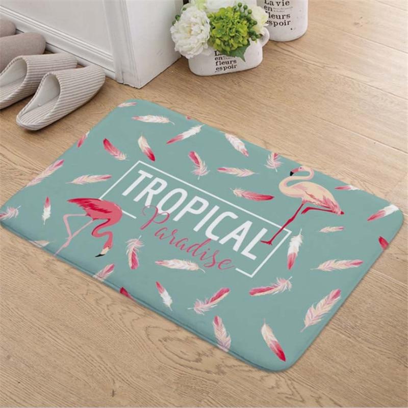 1pc Flamingo HD Printed Non-Slip Bath Mat Absorbent Waterproof Home Decor Flamingo Doormat Flamingo Party Supplies Wedding GiftS 1