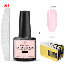 MEET ACROSS Nail Art Poly UV Gel French Builder Jelly Acrylic Quick Building Finger Extension LED Tip