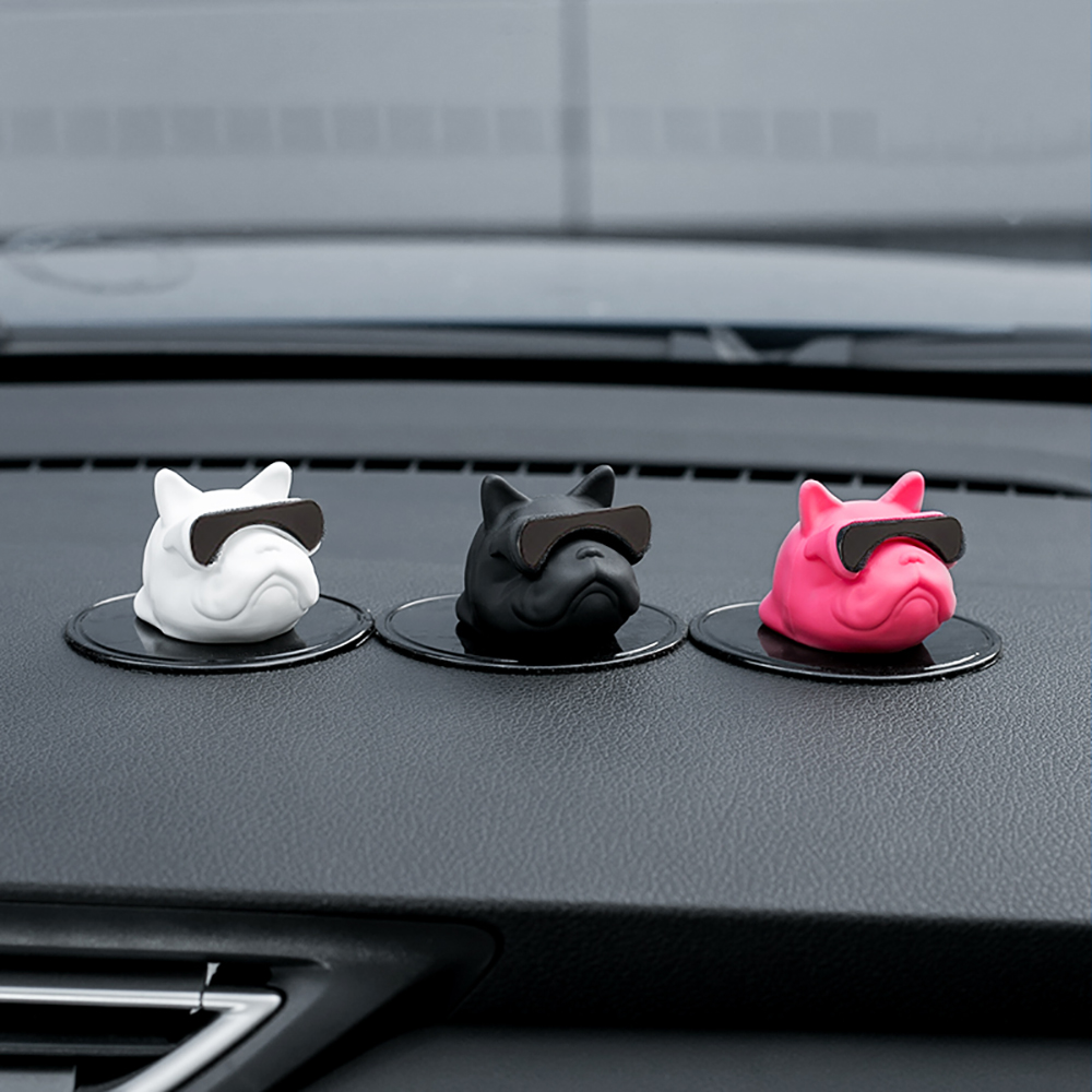 Car Ornament PVC French Bulldog Doll Personality Decoration Automobiles Interior Dashboard Dog Toys Auto Accessories Kids Gifts