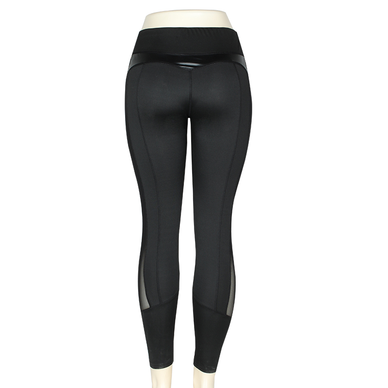 HTB1leBBMhTpK1RjSZFKq6y2wXXaL CHRLEISURE High Waist Fitness Leggings Women for Leggings Workout Women Mesh And PU Leather Patchwork Joggings S-XL