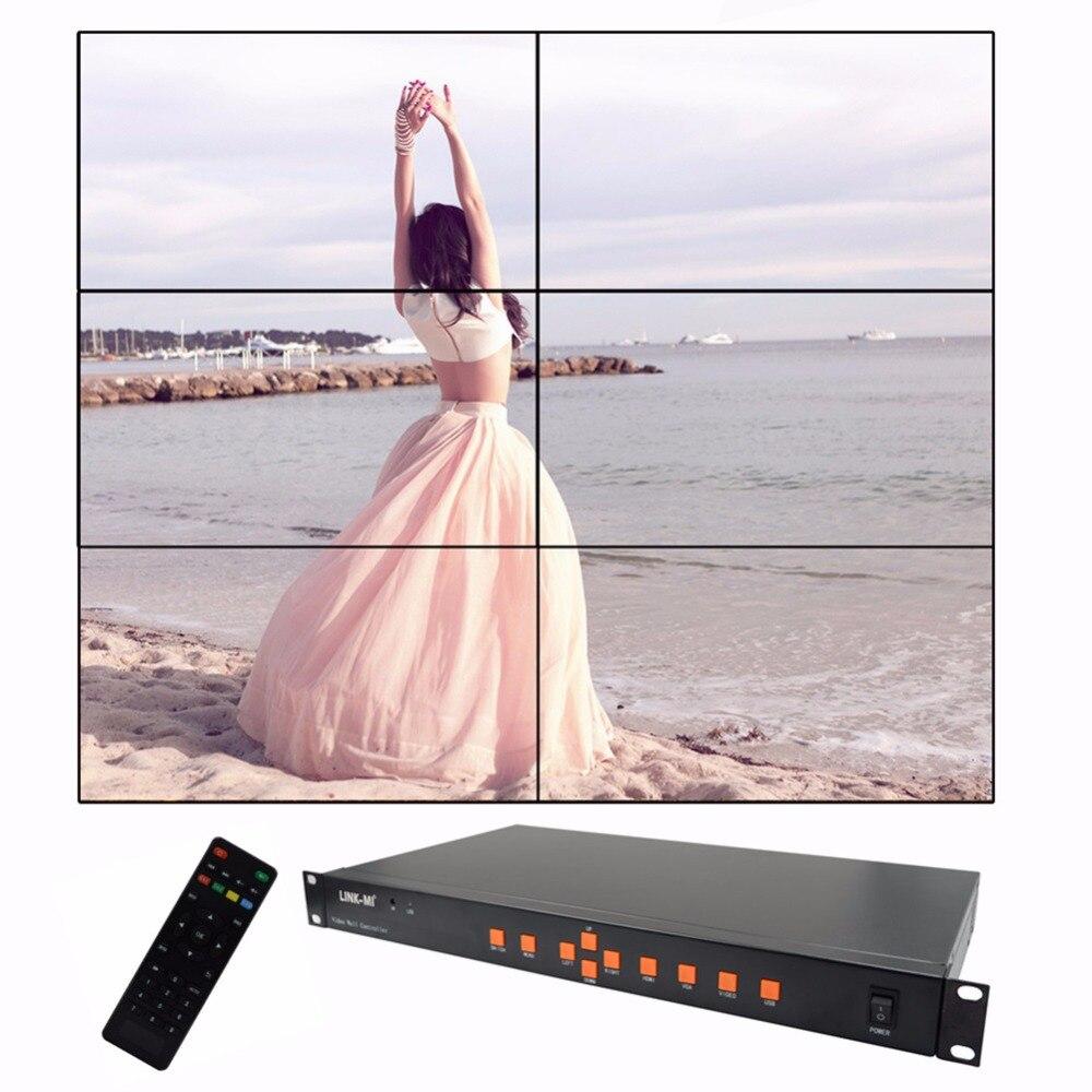 Video Wall Controller HDMI Processor 2x2 2x3 stitching six image processor screen splicing HDMI VGA AV USB Processor Converter wavelets processor