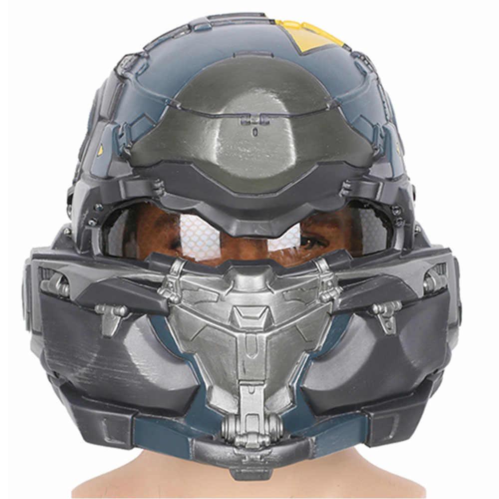 Xcoser Halo 5 Guardians Spartan Helm Cosplay Game Helm Resin Berkualitas Tinggi Penuh Kepala Masker Helm Cosplay Props Aksesoris