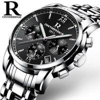 New famous brand Luxury watches Men stainless steel Casual Business Watch waterproof Man Quartz Analog watches zegarki meskie