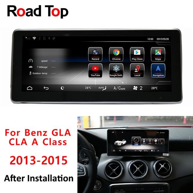 """2g RAM 10.25 """"Android affichage pour Mercede Benz CLA GLA UNE Classe W176 2013-2015 GPS navigation radio stéréo dash lecteur multimédia"""