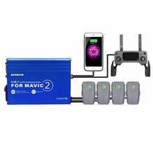 DJI MAVIC 2 Pro Rapid Intelligent Multi Battery Controller Charger Hub with 2 USB Ports For DJI MAVIC 2 Pro Zoom 6in1 Charger dji spark intelligent battery fast charger remote controller for dji spark battery 6 output charger with 2 usb ports 4 adapters
