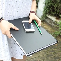 Black Secret A4 Size Hard Cover Sketch Book Blank Papers Diary Planner Journal Study Business