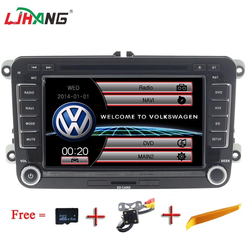 LJHANG 7 Auto audio font b Car b font DVD Player For VW Passat B6 Jetta